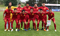 May 31, 2018 - London, United Kingdom - Tibet Team shoot.during Conifa Paddy Power World Football Cup 2018  Group B match between  Abkhazia  against Tibet at Queen Elizabeth II Stadium (Enfield Town FC), London, on 31 May 2018  (Credit Image: © Kieran Galvin/NurPhoto via ZUMA Press)