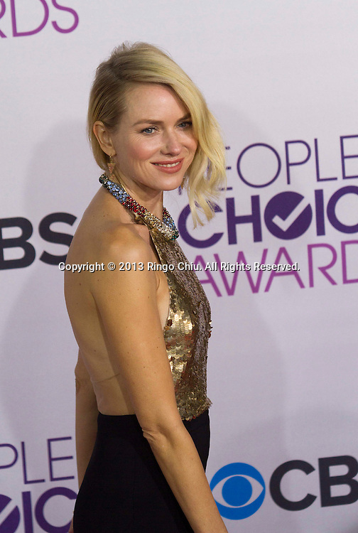 Naomi Watts  arrives at the 39th Annual People's Choice Awards at Nokia Theatre L.A. Live on Wednesday January 9, 2013 in Los Angeles, California, United States. (Photo by Ringo Chiu/PHOTOFORMULA.com)