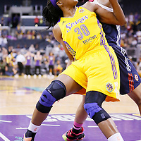 03 August 2014: Los Angeles Sparks forward Nneka Ogwumike (30) is seen during the Los Angeles Sparks 70-69 victory over the Connecticut Sun, at the Staples Center, Los Angeles, California, USA.