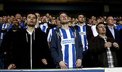 Brighton & Hove Albion fans - Mandatory by-line: Robbie Stephenson/JMP - 07/04/2017 - FOOTBALL - Loftus Road - Queens Park Rangers, England - Queens Park Rangers v Brighton and Hove Albion - Sky Bet Championship