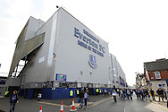 a General view outside Goodson Park stadium. Barclays Premier League match, Everton v Liverpool at Goodison Park in Liverpool on Sunday 4th October 2015.<br /> pic by Chris Stading, Andrew Orchard sports photography.