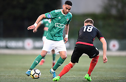 April 13, 2018 - Paris, France - Loic Lapoussin ( Red Star FC ) - Remi Duterte  (Credit Image: © Panoramic via ZUMA Press)