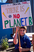 Around 300 people of all ages joined the towns first Climate Strike and marched through the town in Folkestone, Kent, England, UK. There were many primary and secondary school children attending who had been inspired by Greta Thunberg and the Fridays For Future.