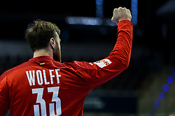 Andreas Wolff of Germany reacts during handball match between National Teams of Germany and Slovenia at Day 2 of IHF Men's Tokyo Olympic  Qualification tournament, on March 13, 2021 in Max-Schmeling-Halle, Berlin, Germany. Photo by Vid Ponikvar / Sportida