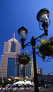 Pittsburgh, PA, Market Square Park and Merchant Center, Lamps and One Fifth Avenue