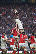 Twickenham. Great Britain.<br /> Maro ITOJO, winning the line out ball during the <br /> RBS Six Nations Rugby, England vs Wales at the RFU Twickenham Stadium. England.<br /> <br /> Saturday  12/03/2016 <br /> <br /> [Mandatory Credit; Peter Spurrier/Intersport-images]