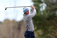 WILMINGTON, NC - MARCH 19: North Carolina's Preyer Fountain tees off on the Marsh Course first hole. The first round of the 2017 Seahawk Intercollegiate Men's Golf Tournament was held on March 19, 2017, at the Country Club of Landover Nicklaus Course in Wilmington, NC.