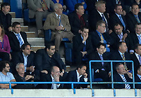 Photo: Ashley Pickering.<br /> Gillingham v Leeds United. Coca Cola League 1. 29/09/2007.<br /> Leeds manager Dennis Wise (front row R) watches the game from the stand after getting sent off by the referee at half time