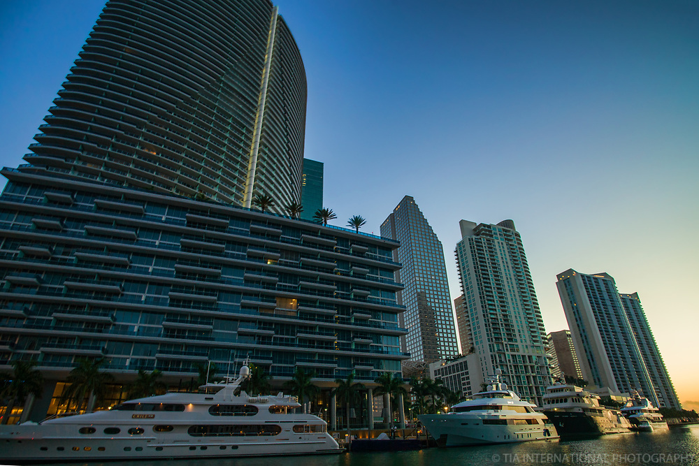 Skyscrapers along Miami River