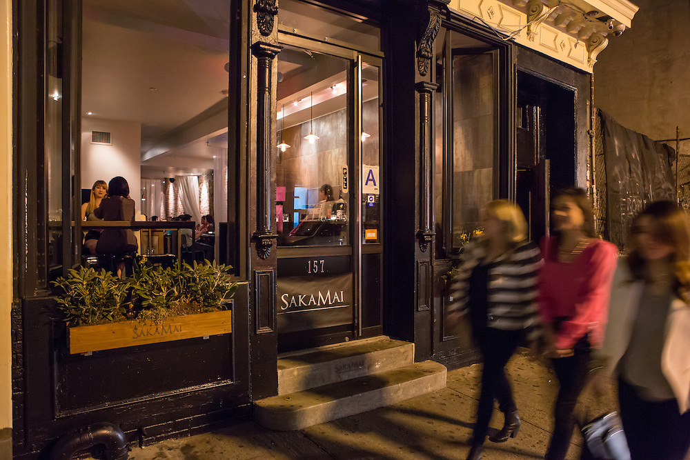 The front of SakaMai, at 157 Ludlow Street on the Lower East Side.