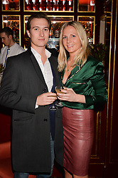 Alexis Stellakis & Maddie Chesterton at a party to launch the Barr & Bass 'Aya' brand at Mark's Club, 46 Charles Street, Mayfair, London England. 14 December 2016.