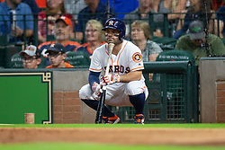 May 22, 2018 - Houston, TX, U.S. - HOUSTON, TX - MAY 22: Houston Astros second baseman Jose Altuve (27) looks on from the batters circle in the third inning during an MLB baseball game between the Houston Astros and the San Francisco Giants on May 22, 2018 at Minute Maid Park in Houston, Texas. (Photo by Juan DeLeon/Icon Sportswire) (Credit Image: © Juan Deleon/Icon SMI via ZUMA Press)