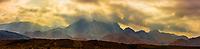 Panoramic view of mountains surrouding the Dana Biosphere Reserve, Wadi Feynan, Jordan.