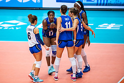 19-10-2018 JPN: Semi Final World Championship Volleyball Women day 18, Yokohama<br /> China - Italy / Miryam Fatime Sylla #17 of Italy, Paola Ogechi Egonu #18 of Italy, Monica De Gennaro #6 of Italy