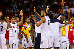Team of USA after  the Preliminary Round - Group B basketball match between National teams of USA and Tunisia at 2010 FIBA World Championships on September 2, 2010 at Abdi Ipekci Arena in Istanbul, Turkey. (Photo By Vid Ponikvar / Sportida.com)