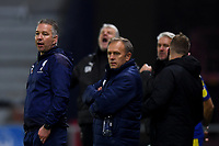 Football - 2020 / 2021 Sky Bet League One - AFC Wimbledon vs Peterborough United - Plough Lane<br /> <br /> Peterborough United manager Darren Ferguson (left) frustrated on the touchline.<br /> <br /> COLORSPORT/ASHLEY WESTERN