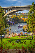 Spokane is a city located in the Northwestern United States in the state of Washington. It is the largest city of Spokane County of which it is also the county seat, and the metropolitan center of the Inland Northwest region. The city is located on the Spokane River in Eastern Washington, 110 miles (180 km) south of the Canadian border, approximately 20 miles (32 km) from the Washington-Idaho border, and 271 miles (436 km) east of Seattle.