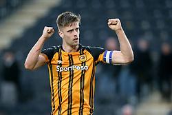 Hull City's Markus Henriksen celebrates the win