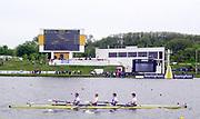 Poznan, POLAND.   2004 FISA World Cup, Malta Lake Course.  <br /> <br /> GBR M4- Matt Pinsent, Alex Partridge. Steve Williams and Ed Coode.<br /> <br /> 09.05.2004<br /> <br /> [Mandatory Credit:Peter SPURRIER/Intersport Images]