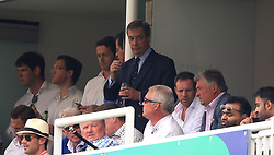 Nigel Farage in the stands during the ICC Cricket World Cup group stage match at Lord's, London.