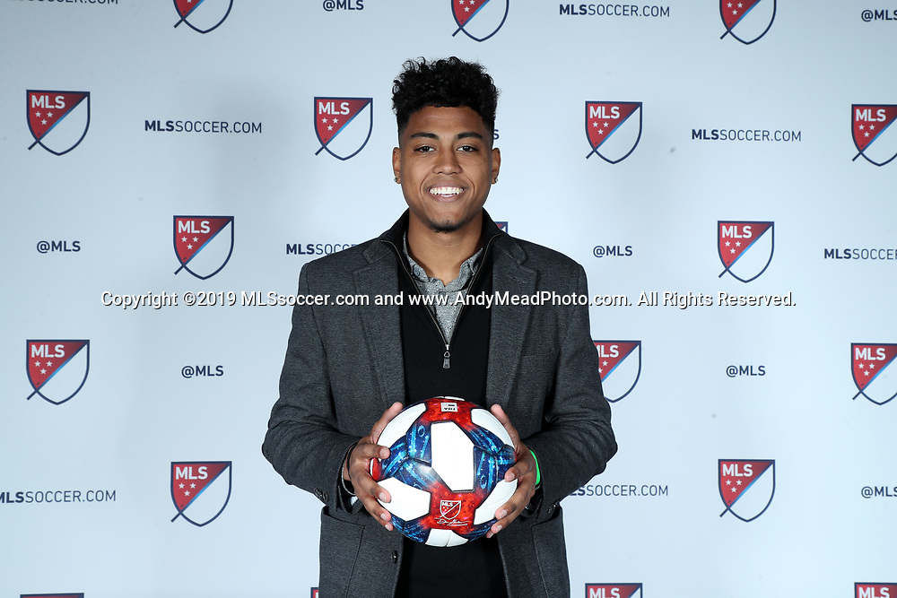 CHICAGO, IL - JANUARY 11: Logan Gdula was taken with the thirteenth overall pick by FC Cincinnati. The MLS SuperDraft 2019 presented by adidas was held on January 11, 2019 at McCormick Place in Chicago, IL.
