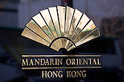 Mandarin Oriental Hotel Sign, Hong Kong, China