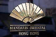 Mandarin Oriental Hotel Sign, Hong Kong, China