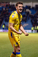Bristol Rovers defender Tom Lockyer (4) celebrates after the final whistle during the EFL Sky Bet League 1 match between Gillingham and Bristol Rovers at the MEMS Priestfield Stadium, Gillingham, England on 12 March 2019.