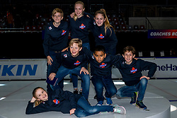 13-01-2019 NED: ISU European Short Track Championships 2019 day 3, Dordrecht<br /> Kids pose during the ISU European Short Track Speed Skating Championships.