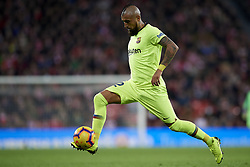 February 10, 2019 - Bilbao, Vizcaya, Spain - Arturo Vidal of Barcelona controls the ball during the week 23 of La Liga between Athletic Club and FC Barcelona at San Mames stadium on February 10 2019 in Bilbao, Spain. (Credit Image: © Jose Breton/NurPhoto via ZUMA Press)