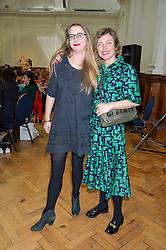 Left to right, DAISY DE VILLENEUVE and CAMILLA RUTHERFORD at a lunch in aid of the charity African Solutions to African Problems (ASAP) held at the Royal Horticultural Hall, Vincent Square, London on 19th May 2016.