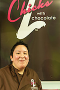 Lead Chocolatier Stephanie Vazquez of 2 Chicks wih Chocolate, of South River, New Jersey.