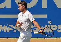 Tennis - 2017 Aegon Championships [Queen's Club Championship] - Day Two, Monday<br /> <br /> Men's Singles, Round of 32<br /> Feliciano Lopez [Spain] vs. Stan Wawrinka [Sui]<br /> <br />  Stan Wawrinka unhappy after losing the first set on Centre Court <br /> <br /> COLORSPORT/ANDREW COWIE