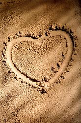 Aug. 23, 2012 - Heart shape on sand (Credit Image: © Image Source/ZUMAPRESS.com)