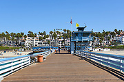 On the Pier in San Clemente Looking Towards Town