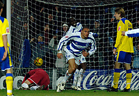 Photo: Daniel Hambury.<br />Queens Park Rangers v Cardiff City. Coca Cola Championship. 28/12/2005.<br />QPR's Marc Nygaard  turns away after scoring the only goal.