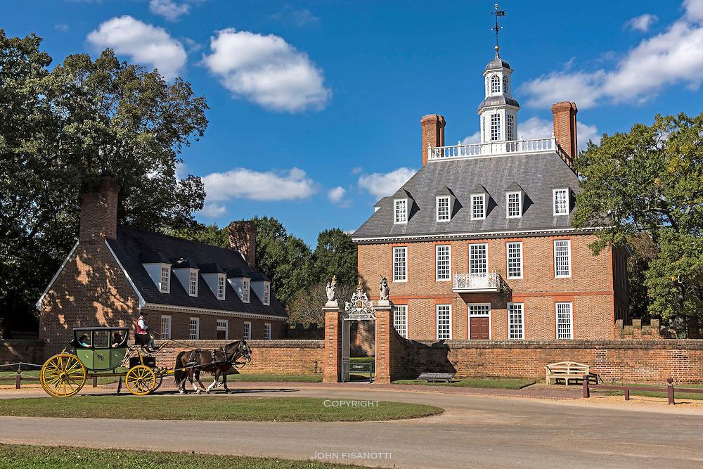 The Governor's Palace, Williamsburg, Virginia