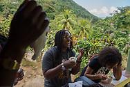 Mark DiOrio / Colgate University<br /> Colgate students take a tour of Moore Town, a maroon community village in the Portland Parish, Feb. 26, 2017 in Jamaica.