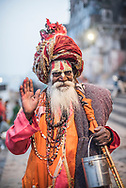 Sadhu, an Indian Holy Man in Varanasi, Uttar Pradesh, India