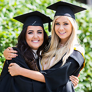 """25.08.2016          <br />  Faculty of Business, Kemmy Business School graduations at the University of Limerick today. <br /> <br /> Attending the conferring were graduates, Aisling Conway, BBs, Wicklow Town and Orla O'Hara, BA in International Studies Castlebar Co. Mayo. Picture: Alan Place.<br /> <br /> <br /> As the University of Limerick commences four days of conferring ceremonies which will see 2568 students graduate, including 50 PhD graduates, UL President, Professor Don Barry highlighted the continued demand for UL graduates by employers; """"Traditionally UL's Graduate Employment figures trend well above the national average. Despite the challenging environment, UL's graduate employment rate for 2015 primary degree-holders is now 14% higher than the HEA's most recently-available national average figure which is 58% for 2014"""". The survey of UL's 2015 graduates showed that 92% are either employed or pursuing further study."""" Picture: Alan Place"""