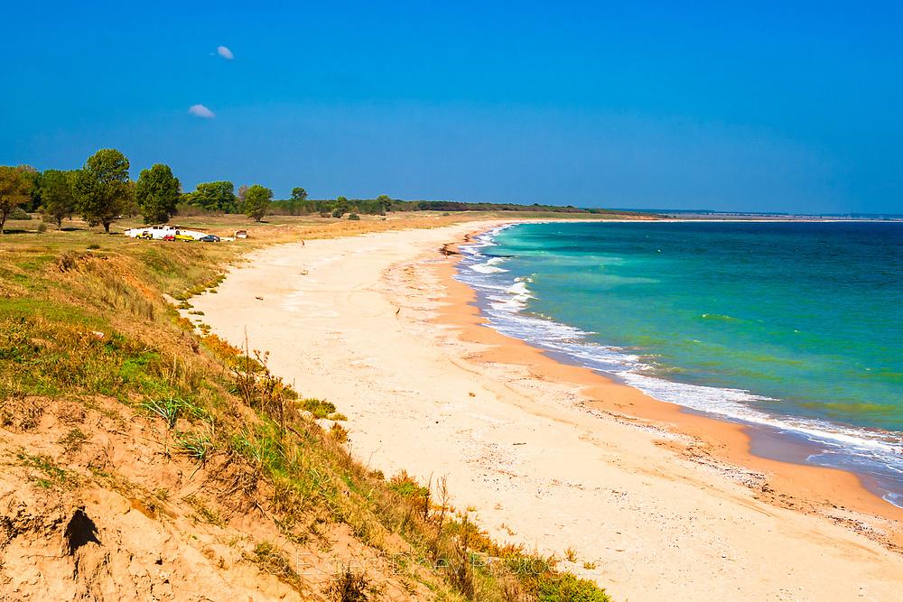 Sandy beach in a north seaside of Bulgaria