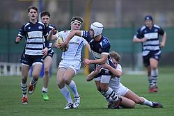 Iwan Hughes – SGS College of Bristol Academy U18 offloads the ball - Mandatory by-line: Paul Knight/JMP - 07/01/2017 - RUGBY - SGS Wise Campus - Bristol, England - Bristol Academy U18 v Exeter Chiefs U18 - Premiership U18 League