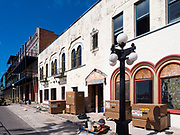 15 FEBRUARY 2020 - TAMPA, FLORIDA: Buildings being renovated into entertainment venues in the historic Ybor City district of Tampa, Florida.     PHOTO BY JACK KURTZ