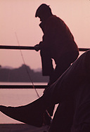 Fishing along the Potamac River in July 1964<br /><br />Photo by Dennis Brack bb72