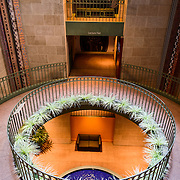 Smithsonian National Museum of African Art Atrium. The Smithsonian National Museum of African Art was opened at its current location in 1987 as a mostly underground facility behind the Smithsonian Castle on Washington DC's National Mall. It is dedicated to ancient and contemporary African art.