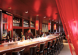 Club Noir Boston Massachusetts bar with bartender