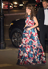 2015-10-27 Duchess of Cambridge arrives at the 100 Women in Hedge Funds gala dinner