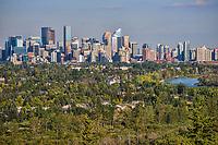 Calgary Skyline & Bow River, Edgeworthy Park