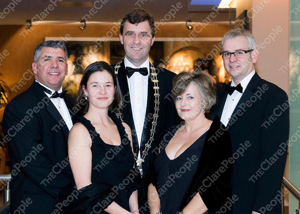 Limerick Chamber President's Dinner - Garry David Jordan and Anna Maria Barry, UPC Ireland, Harry Fehily - President Limerick Chamber Collette and Bruce Bullock, UPC Ireland(Main Sponsor).<br />