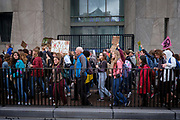 Climate strike for demanding more action on the climate crisis in The Hague, Netherlands. The Hague was one of the cities that joined the World Wide Climate Strike on September 27th 2019.
